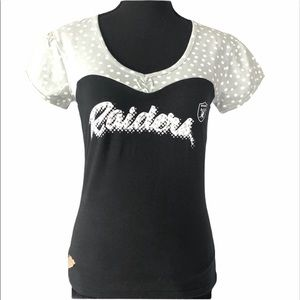 NWT Official NFL Raiders fitted top